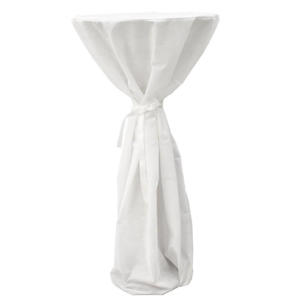 Table Haute de Bar Bistrot R/églable en Hauteur avec Housse Blanche Miadomodo