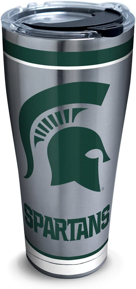 Silver Tervis 1297978 NCAA Michigan State Spartans Tradition Stainless Steel Tumbler 30 oz