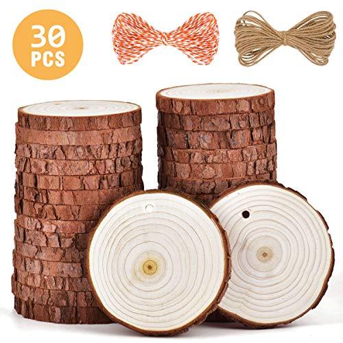 5ARTH Natural Wood Slices - 30 Pcs 2.7
