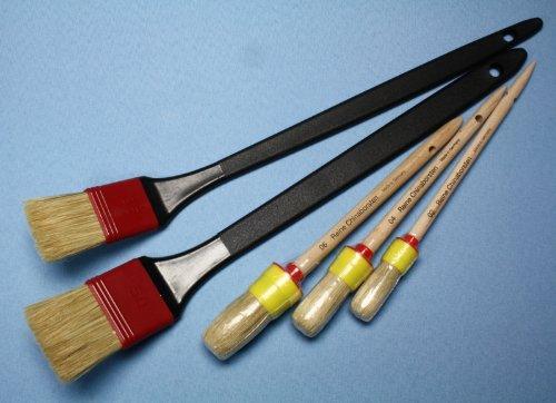 Beizpinsel 35mm gekröpft metallfrei made in Germany 42cm lang für Beizpaste