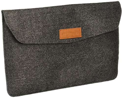 AmazonBasics 11″ Felt Laptop Sleeve – Light Grey