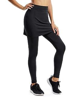 eeb49e71e661 Amazon.com  UDIY Skirted Leggings - Women s Running Skirts Casual ...