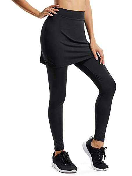 0936267318 Women's Active Athletic Skort Lightweight Skirt with Pockets for Running  Tennis Golf Workout Ankle Lenght Shorts
