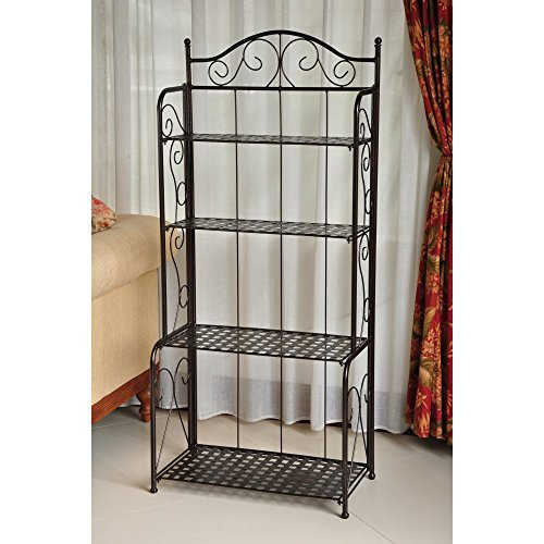 International Caravan 4-Tier Iron Indoor/Outdoor Bakers Rack -