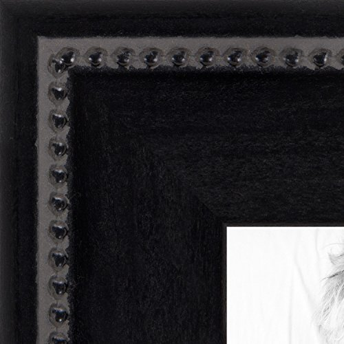 ArtToFrames 14x17 inch Matte Black Slope with Beaded Top Wood Picture Frame, 2WOMM469520-14x17