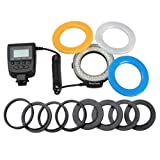 Digital Camera Accessory HL-48S Macro LED Ring Flash Light Includes 4 Diffusers (Clear, Warming, Blue, White) for Sony SLR camera