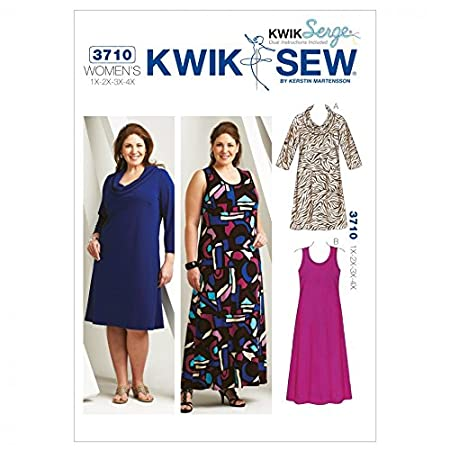Kwik Sew Ladies Plus Size Easy Sewing Pattern 3710 Dresses Amazon