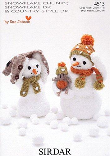 Amazon Sirdar Christmas Snowmen Toys Snowflake Knitting Pattern