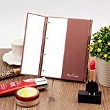 Miss Sweet Small Led Lighted Tri-Fold Makeup Mirror Travel Mirror Compact Pocket Mirror Compact Mirror for Cosmetic Makeup