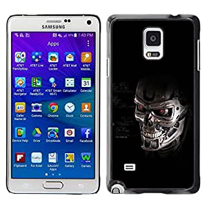 Impact Case Cover with Art Pattern Designs FOR Samsung Galaxy Note 4 Termnator Skull Robot Betty shop