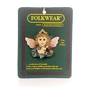 Boyds Folkwear Tooth Fairy Flossie Keep Smiling Pin #26411