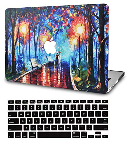 """KECC Laptop Case for MacBook Pro 13"""" (2020/2019/2018/2017/2016) w/Keyboard Cover Plastic Hard Shell A2159/A1989/A1706/A1708 Touch Bar 2 in 1 Bundle (Rainy Night)"""