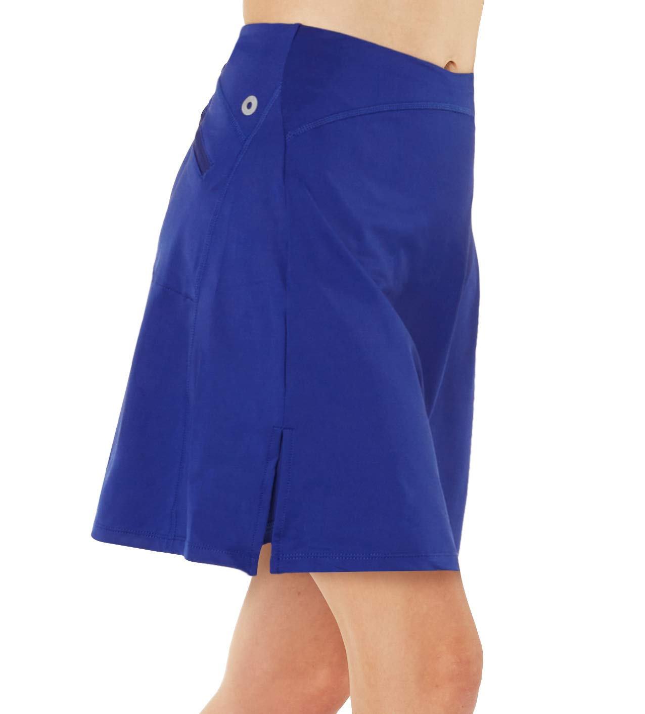 slimour Women Modest Running Skirt Travel Skirts with Pocket Swim Skirt High Waist with Shorts Blue L by slimour