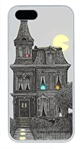 Protective PC Case Skin for iphone 5 White PC Case Back Cover Shell for iphone 5S with Haunted by the 80's