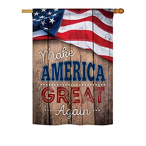 "Ornament Collection Proud to Make America Great Again Vertical House Large Outdoor Decoration Flag 28"" x 40"""