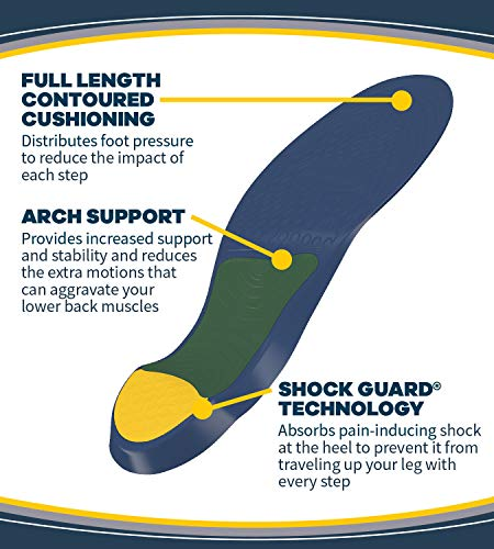 Dr. Scholl's Pain Relief Orthotics for Lower Back Pain for Men, 1 Pair