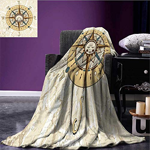 Compass Throw Blanket Windrose on Tainted and Cracked for sale  Delivered anywhere in USA