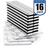 Powerful Neodymium Bar Magnets, Rare-Earth Metal Neodymium Magnet - 60 x 10 x 3 mm, Pack of 16
