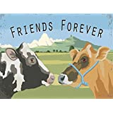 Friends Forever Cows Metal Sign, Rustic Décor, Country Decor