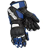Cortech Impulse RR Men's Leather Racing Motorcycle Gloves (White/Blue, 4X-Large)