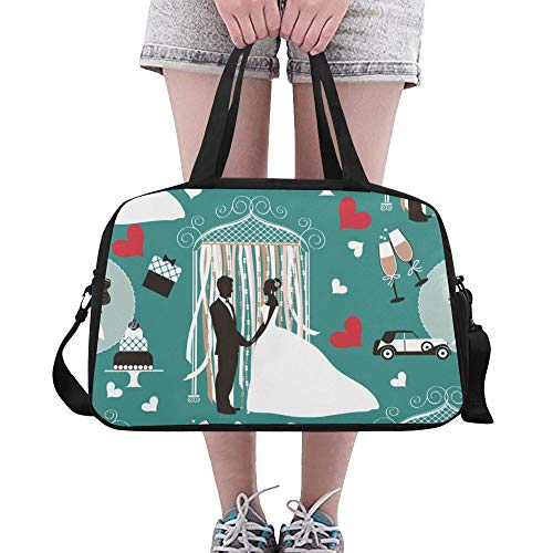 Totes Wedding Elegant Happy Custom Gym Duffle Bag