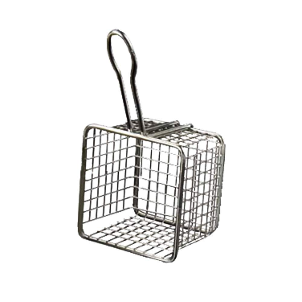 American Metalcraft FRYS443 Tabletop Serving Fry Basket, 4'' Square x 3''H (Case of 24) by American Metalcraft (Image #1)