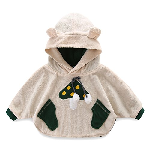 (Mud Kingdom Baby Boys Hoodie Costume Fleece Cloak Coats Mushroom 24M)