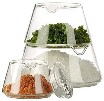 Cucina di Modena 4-teiliges Deko-Glas zur Aufbewahrung: Amazon.de ...
