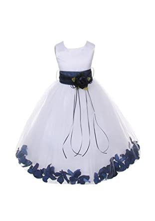 bf8271999 Chiffon Pageant Party Holiday Communion Flower Girl High-Low Dress - Ivory 2