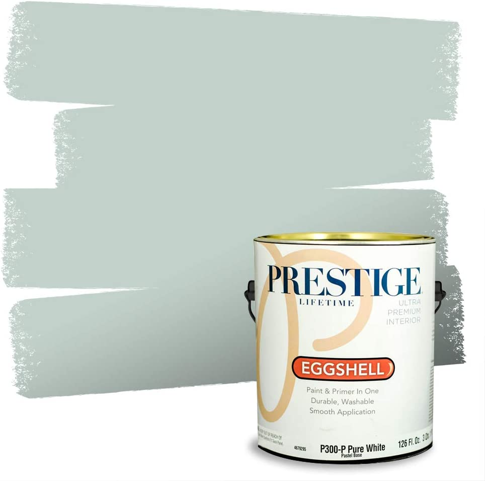 Amazon Com Prestige Paints Interior Paint And Primer In One 1 Gallon Eggshell Comparable Match Of Benjamin Moore Palladian Blue Home Improvement