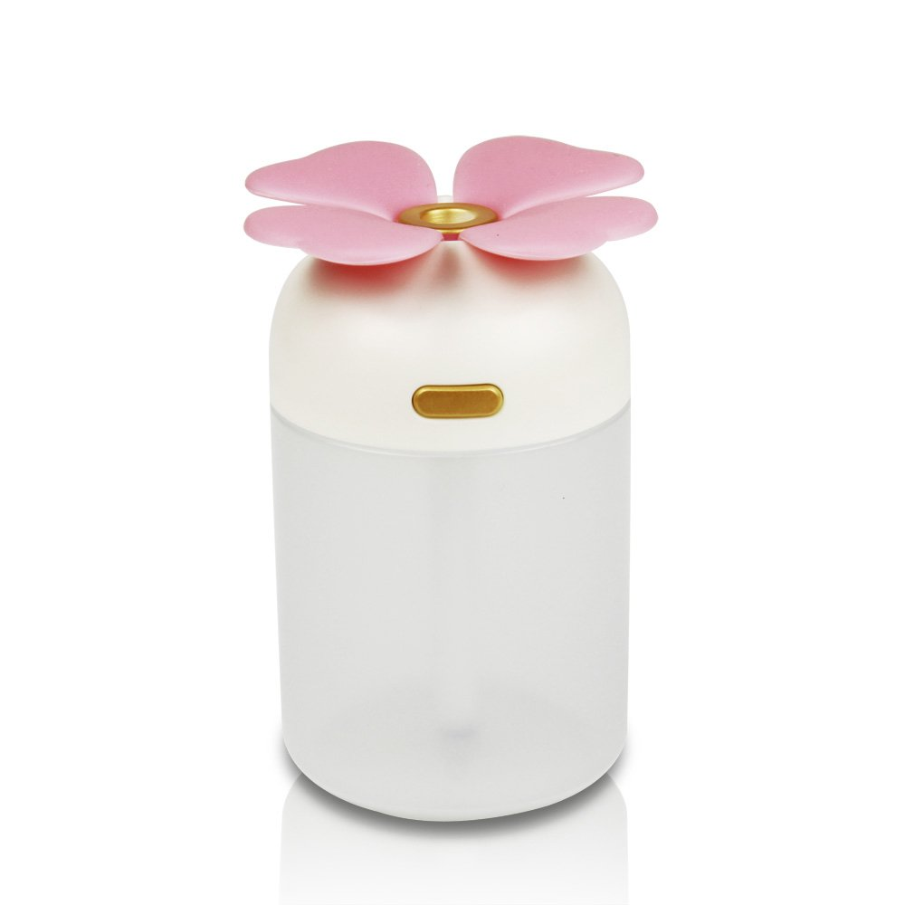 OMG_Shop Clover Essential Oil Diffuser,Aroma Essential Oil Cool Mist Humidifier with Adjustable Mist Mode,Waterless Auto Shut-off Pink