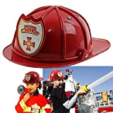 Kids Fireman Hat Firefighter Fire Chief Hard Plastic Hat for Kids