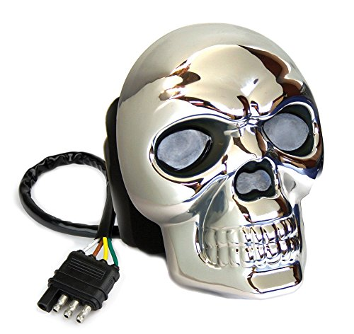 Cheapest Price! Reese Towpower 86523 Hitch Cover (Skull Lighted Chrome Finish)