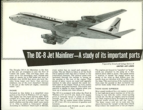 United Airlines DC-8 Mainliner: Most Important Parts airline folder - Dc United Airlines