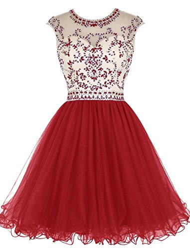 Prom line Dress Women's Red Short Dressesonline Beading Homecoming A Dress xqFPnYAwYE