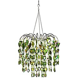 zappobz HLLWF2 Waterfall Chandelier, Lime Green
