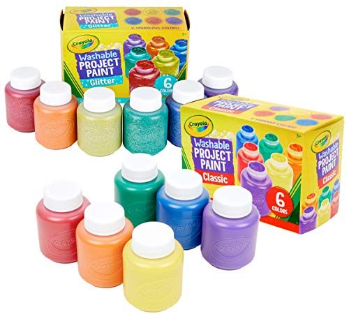 Crayola Washable Paint Set, Amazon Exclusive, Stocking Stuffers for Boys & Girls, 12 Count