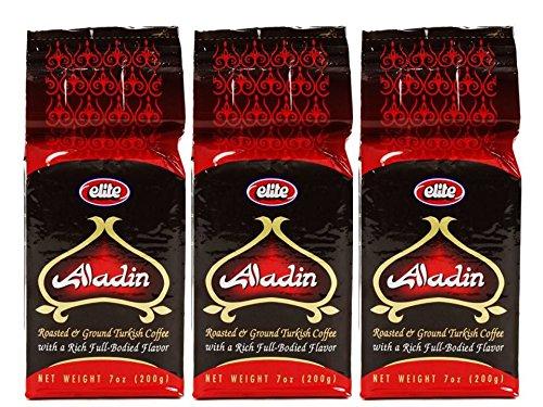 Elite Aladin Turkish Roasted Turf Coffee 7oz (3 Pack)