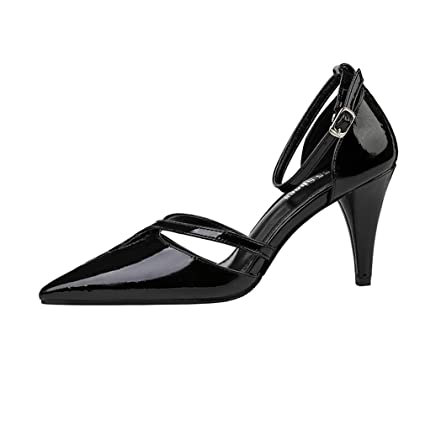 cfca8bc92031c Amazon.com: YXB Women's High Heels 2019 New PU Sexy Pointed Sandals ...