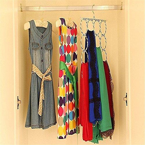 Chytaii Colgador de Ropa Multifuncional Percha Percha Resistentes Antideslizantes para Camisas Chaquetas Pantalones Vestidos Bufandas C/írculo de Suspensi/ón de Rat/án Colores Aleatorios