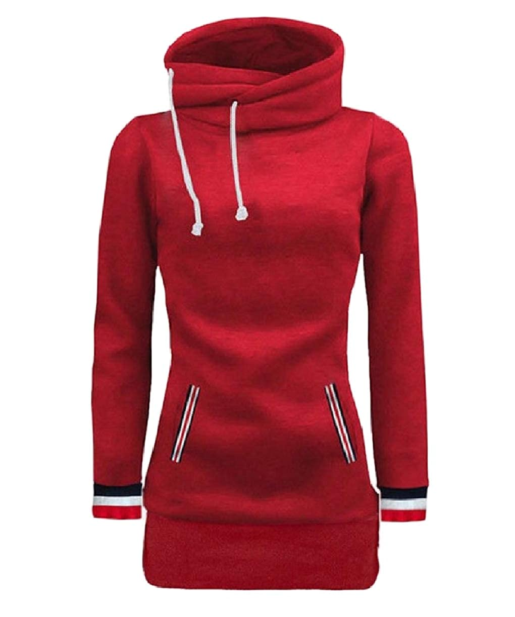 SportsX Women Slimming Hooded Top Classics Mid Long Pullover Sweatshirt