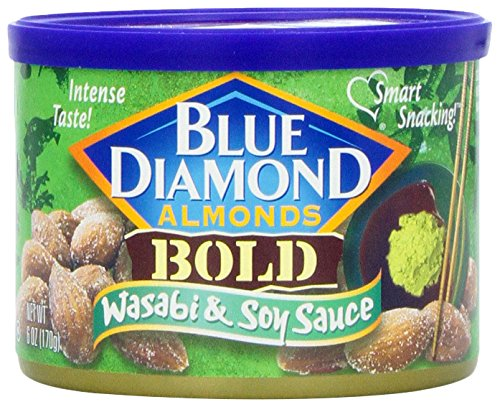 Blue Diamond Almonds, Bold Wasabi & Soy Sauce, 6 Ounce
