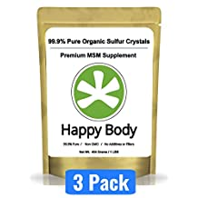 Organic Sulfur Crystals - 99.9% Pure MSM, Premium MSM Supplement. Natural MSM Crystals - Best Quality and Absorption. (3 Pound Pack) ** Very Fast Shipping Avg 3 - 5 Days. **