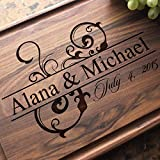 Ornamental Wedding Personalized Engraved Cutting Board- Wedding Gift, Anniversary Gifts, Housewarming Gift,Birthday Gift, Corporate Gift, Award, Promotion. #206