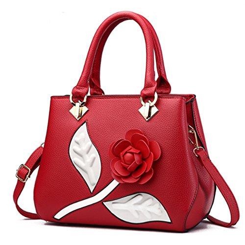 main Fleur Sacs Mode Tote Rouge Purse Messenger bandoulière à Sac à Femmes U6I6X