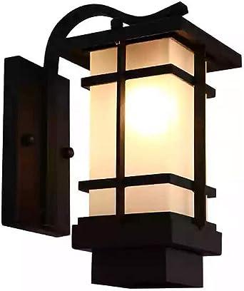 Aplique de pared exterior, Vintage 9W LED Lámpara de pared de jardín Blanco cálido Impermeable Patio Puerta Luz Hierro forjado Villa Terraza Creativa Balcón Lámpara de pared exterior Bar Cafe,White: Amazon.es: Iluminación