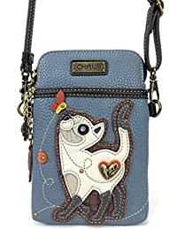 Crossbody Cell Phone Purse - Women PU Leather Multicolor...
