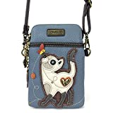 Chala Crossbody Cell Phone Purse-Women PU Leather Multicolor Handbag with Adjustable Strap - Slim Cat Blue