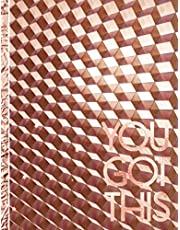 You Got This: Discreet Password Book Alphabetical with Tabs, Large Print. For Girls & Women. Inspirational Quote, Rose Gold Color Cover