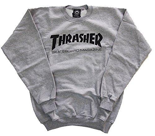 軍団マーケティング秘密の(スラッシャー) THRASHER マガジンロゴ クルーネック トレーナー 3カラー